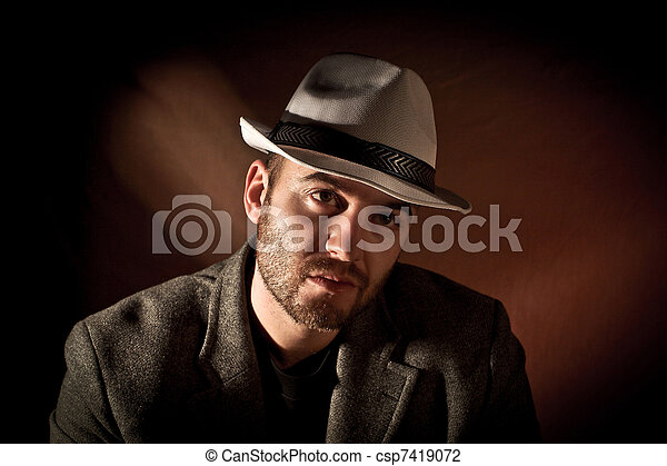 gangster portrait - csp7419072