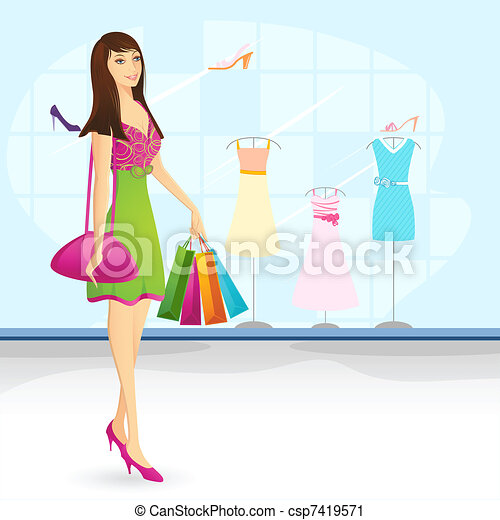 Shopping Lady - csp7419571