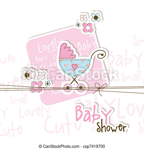 Baby shower card - csp7419700