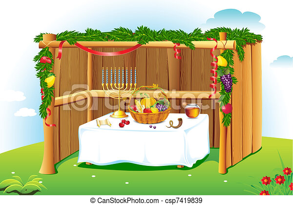 Decorated Sukkah - csp7419839