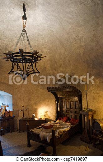 Medieval interior - csp7419897