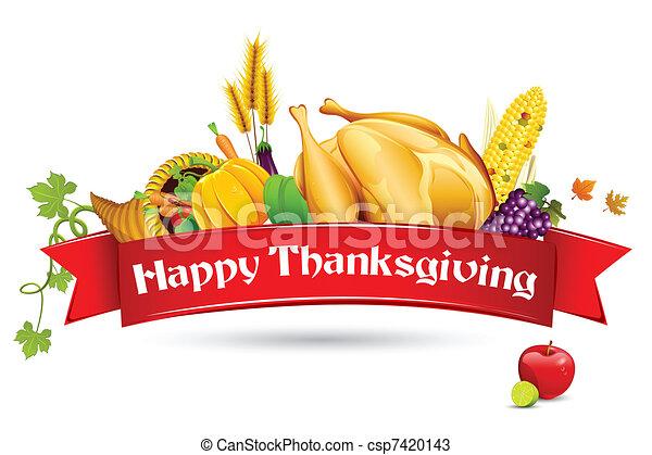 Thanksgiving Card - csp7420143
