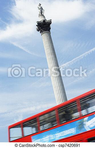 Nelson's Column In Trafalgar Square, London, England - csp7420691