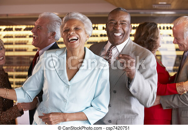 夫婦, 夜總會, 一起, 跳舞 - csp7420751