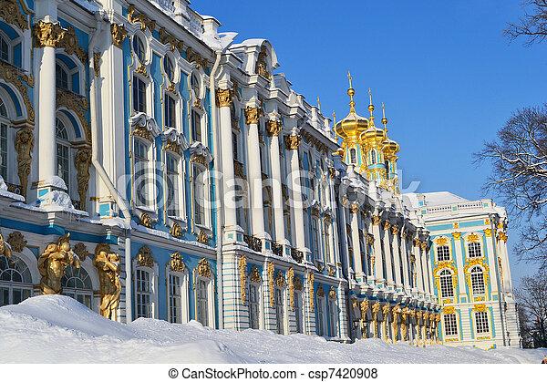 vista, de, a,  catherine, Palácio, Inverno - csp7420908