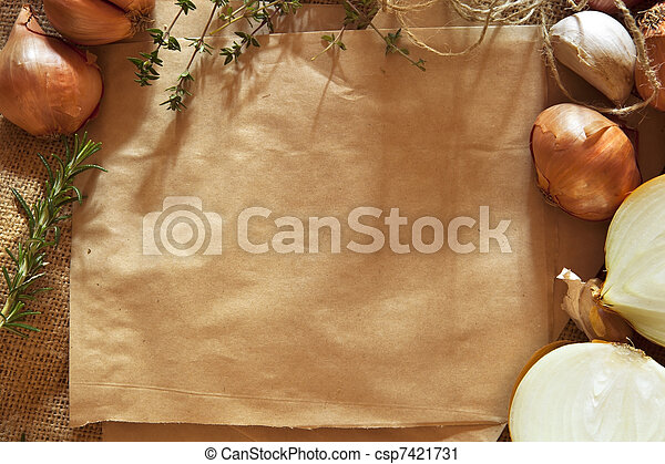 Rustic Food Background - csp7421731