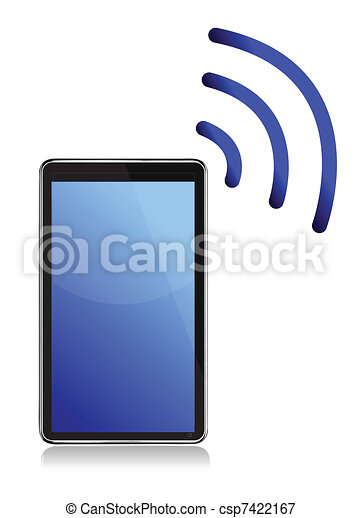Tablet with wireless connection - csp7422167