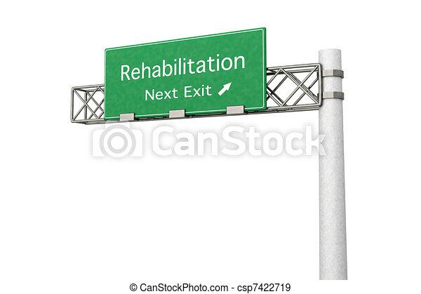 Highway Sign - Rehabilitation - csp7422719