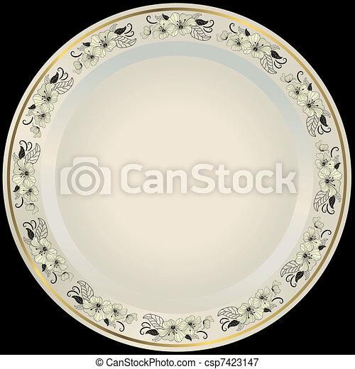 White plate  - csp7423147