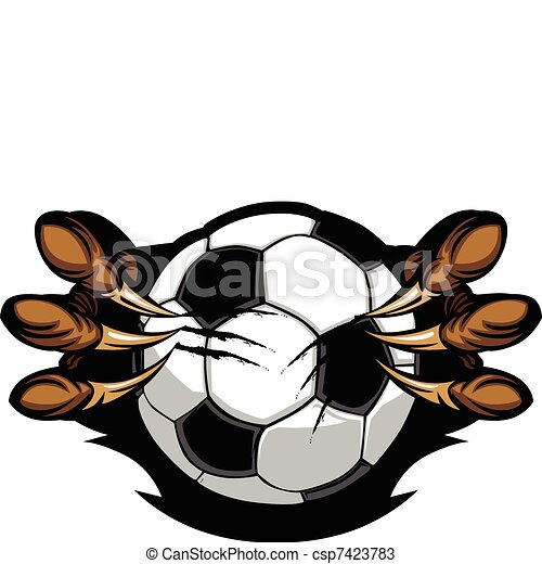 Soccer Ball With Eagle Talons Vecto - csp7423783