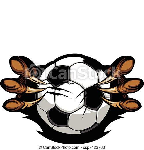 Soccer Ball With Eagle Talons Vecto - csp7423783