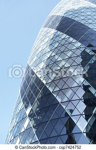 Glass Exterior Of Swiss Re Tower, London, England - csp7424752