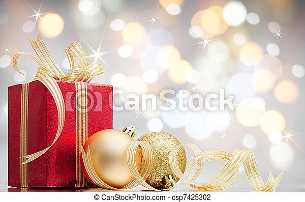 navidad, presente - csp7425302