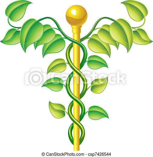Natural caduceus concept - csp7426544