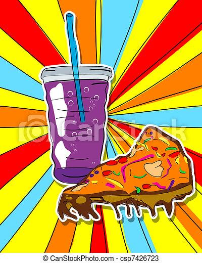 Pop art junk food - csp7426723