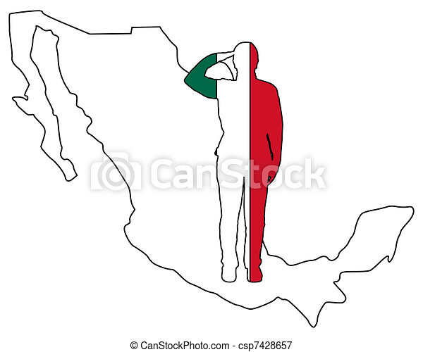 Mexican salute - csp7428657