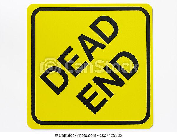 Dead End Road Sign - csp7429332