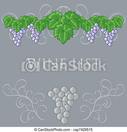 Wine List Cover Design - csp7429515