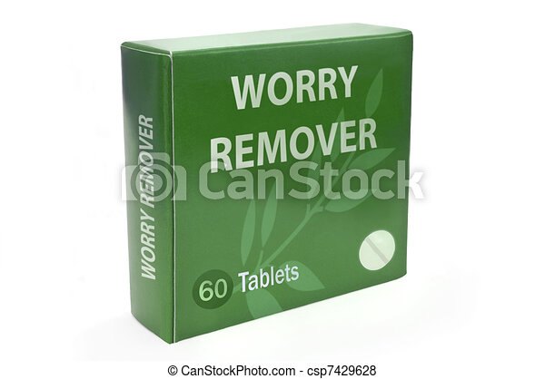 Cure for worry concept. - csp7429628