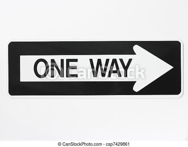One Way Road Sign - csp7429861