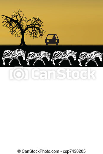 illustration of safari in africa - csp7430205