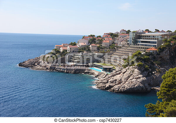 Hotel on Croatian coast - csp7430227