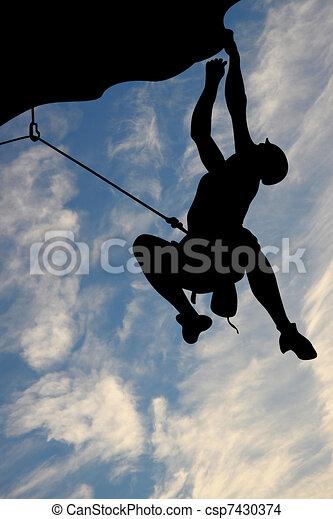 Rock climbing - csp7430374