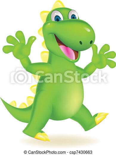 Happy dinosaur - csp7430663
