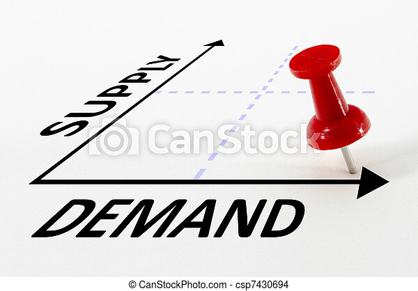 Supply And Demand Analysis Concept - csp7430694