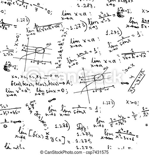 Seamless background with math formulas on blackboard - csp7431575
