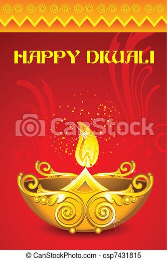 Decorated Diya - csp7431815