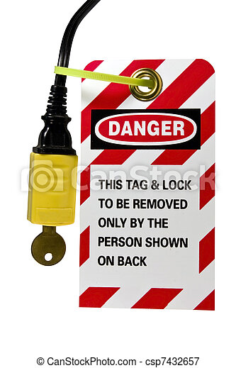electrical cord lock out tag - csp7432657