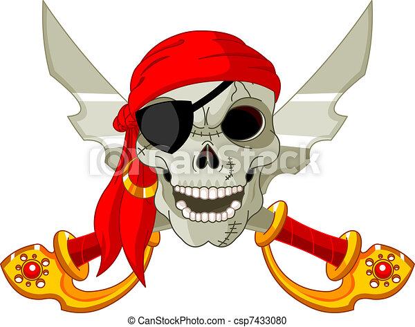 Pirate Skull - csp7433080