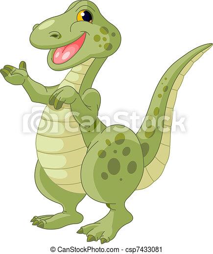 Cute dinosaur - csp7433081