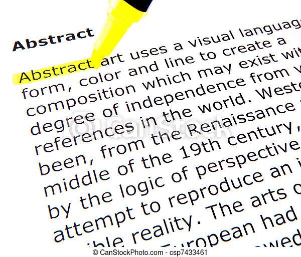 Abstrakt - csp7433461