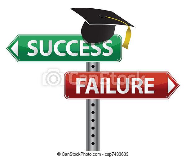Graduation hat decision making  - csp7433633