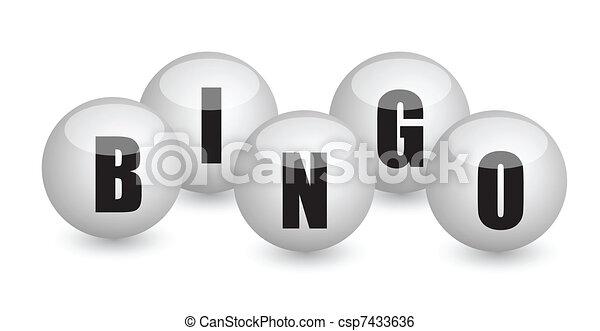 bingo balls illustration design - csp7433636