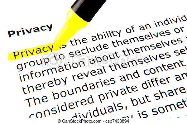 Privacy - csp7433894