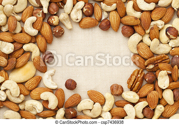 nut mix on canvas - csp7436938