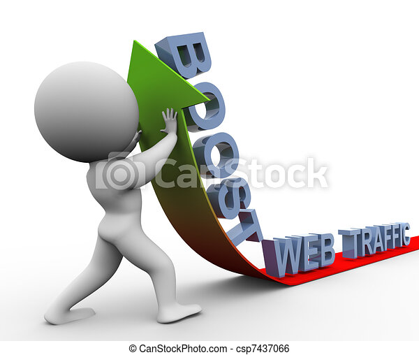 3d web traffic boost - csp7437066