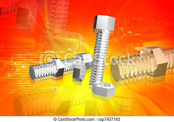Nut and bolt - csp7437163