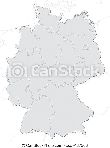 Germany map with states - csp7437568