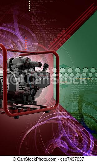 Generator  - csp7437637