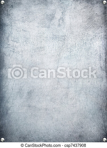 Metal plate steel background. - csp7437908