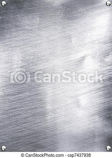 Metal plate steel background. - csp7437938