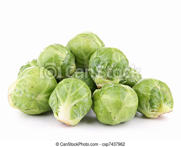 isolated brussels sprouts - csp7437962