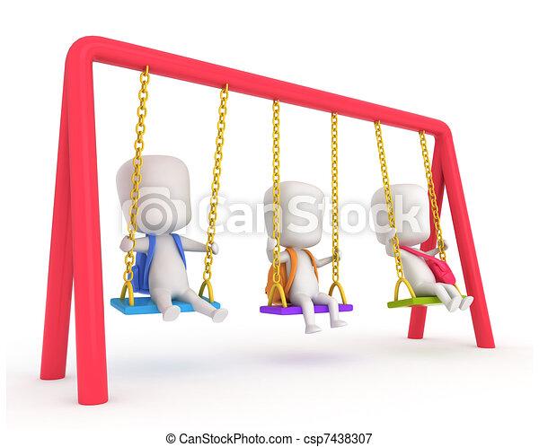 Kids Swing - csp7438307