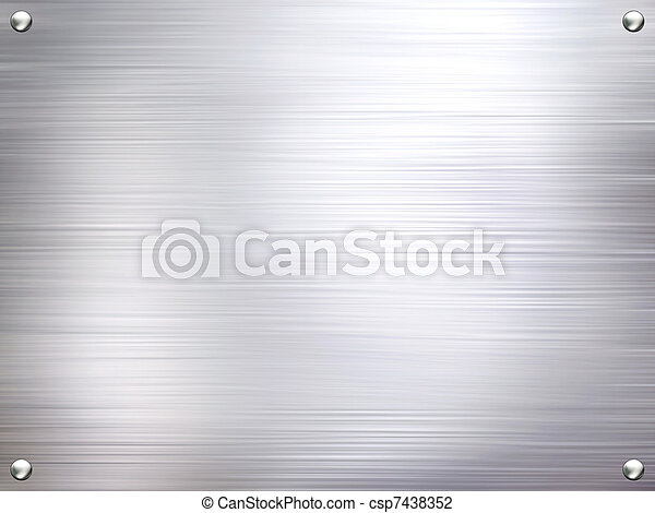 Metal plate steel background. - csp7438352