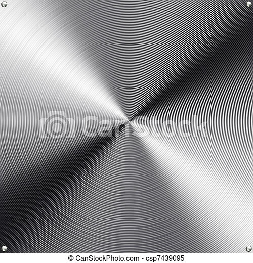 High contrast brushed stainless steel texture. - csp7439095