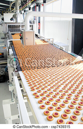 production cookie in factory - csp7439315